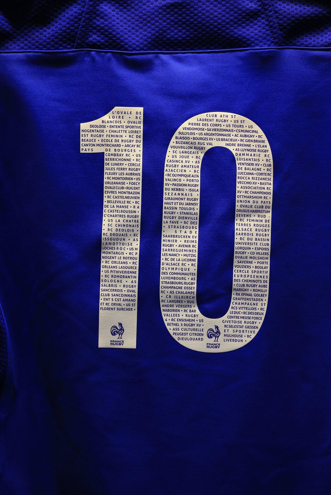Les clubs affichés sur les maillots de l'Equipe de France!