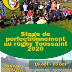 Stage Toussaint